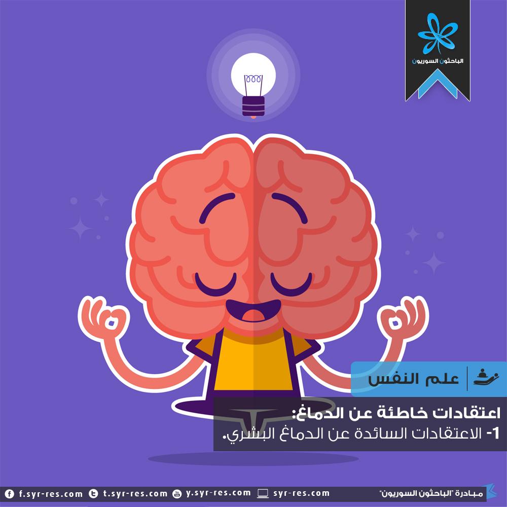 الباحثون السوريون اعتقادات خاطئة عن الدماغ الجزء الأول